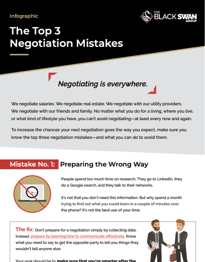 The Top 3 Negotiation Mistakes